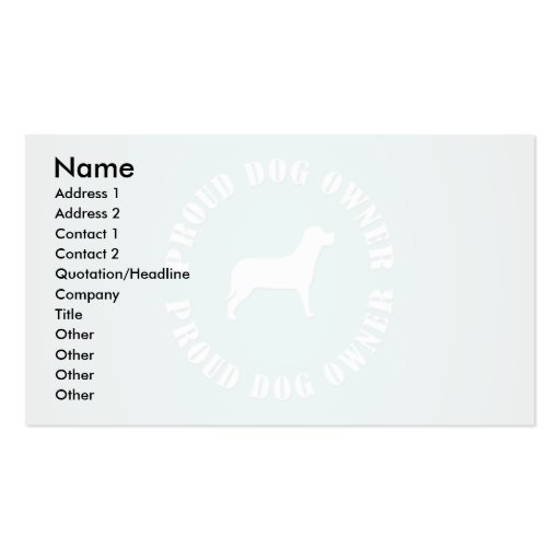 Proud Dog Owner Business Card Templates