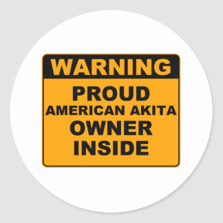 Proud Dog Owner Classic Round Sticker