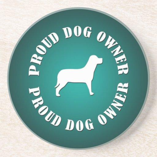 Proud Dog Owner Beverage Coaster