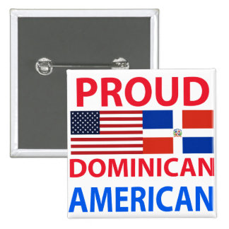 Proud Dominican American 15 Cm Square Badge
