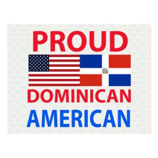 Proud Dominican American Postcard