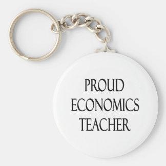 Proud Economics Teacher Basic Round Button Key Ring