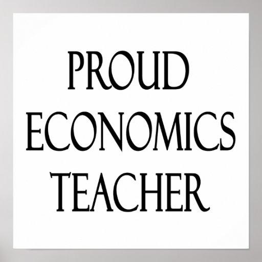 Proud Economics Teacher Poster
