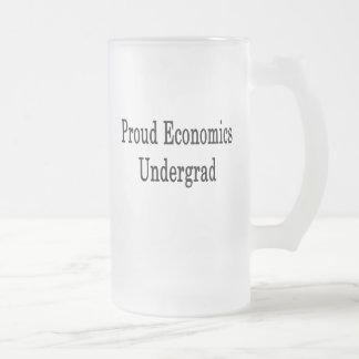 Proud Economics Undergrad Frosted Glass Mug