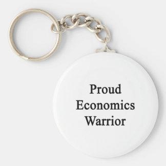 Proud Economics Warrior Basic Round Button Key Ring