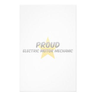 Proud Electric Motor Mechanic Stationery Design