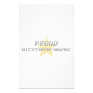 Proud Electric Motor Mechanic Stationery Design