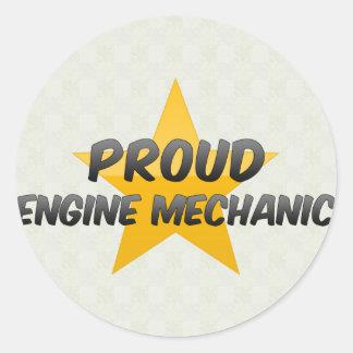 Proud Engine Mechanic Round Stickers