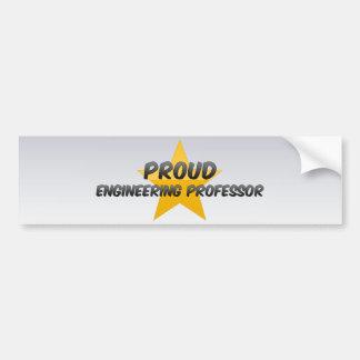 Proud Engineering Professor Bumper Stickers