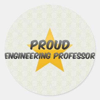 Proud Engineering Professor Round Sticker
