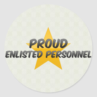 Proud Enlisted Personnel Classic Round Sticker