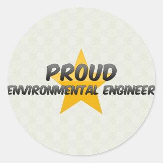 Proud Environmental Engineer Round Sticker