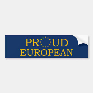 Proud European Bumper Sticker