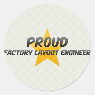 Proud Factory Layout Engineer Round Sticker