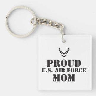 Proud Family – Black Logo & Star Double-Sided Square Acrylic Key Ring