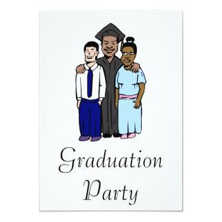 Proud Family Graduates 13 Cm X 18 Cm Invitation Card