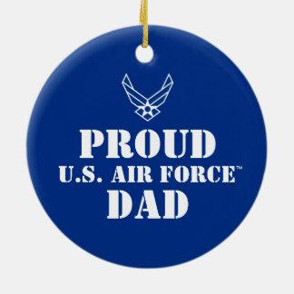 Proud Family - Logo & Star on Blue Round Ceramic Decoration