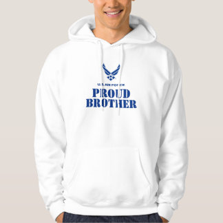 Proud Family – Small Air Force Logo & Name Hooded Pullovers