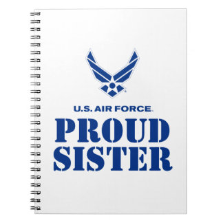 Proud Family – Small Air Force Logo & Name Spiral Note Book