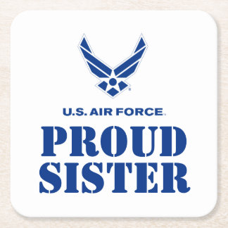 Proud Family – Small Air Force Logo & Name Square Paper Coaster