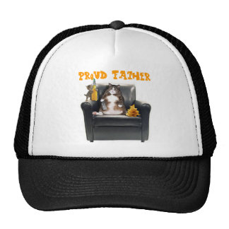 """""""Proud Father"""" Cats Trucker Hat"""