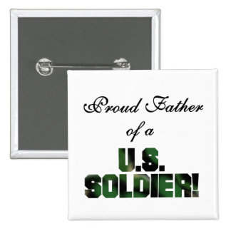 Proud Father of a US Soldier Tshirts and Gifts 15 Cm Square Badge