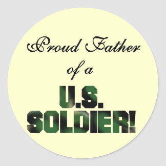 Proud Father of a US Soldier Tshirts and Gifts Stickers