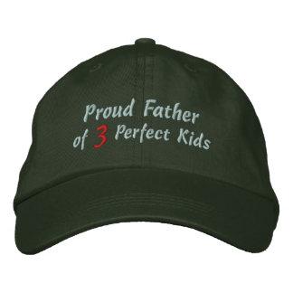 Proud Father of Perfect Kids Baseball Cap
