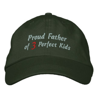 Proud Father of Perfect Kids Embroidered Hat