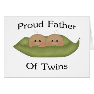 Proud Father Of Twins Greeting Card