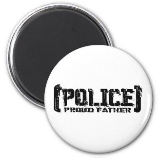 Proud Father - POLICE Tattered Magnet