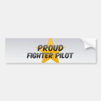 Proud Fighter Pilot Bumper Sticker