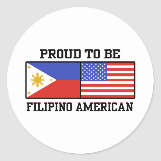 Proud Filipino American Classic Round Sticker