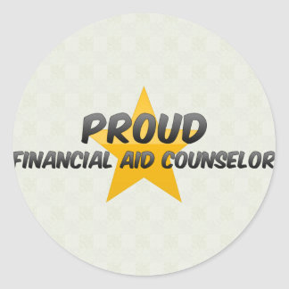 Proud Financial Aid Counselor Classic Round Sticker