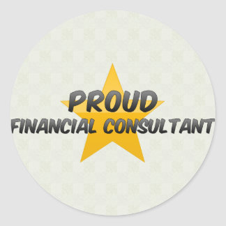 Proud Financial Consultant Sticker