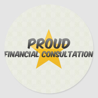 Proud Financial Consultation Stickers
