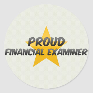 Proud Financial Examiner Round Stickers