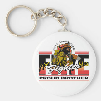 Proud Firefighter Brother Key Ring