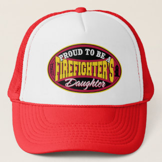 Proud Firefighter Daughter Trucker Hat