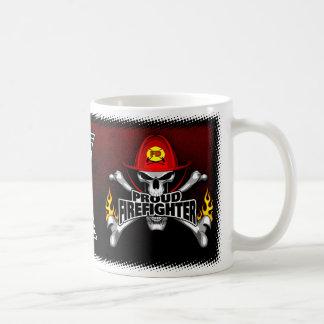 Proud Firefighter Skull Coffee Mug
