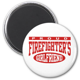 Proud Firefighter's Girlfriend 6 Cm Round Magnet