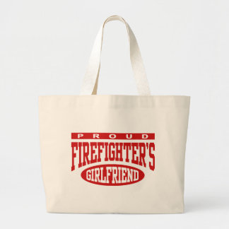 Proud Firefighter's Girlfriend Large Tote Bag