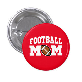 Proud Football Mom Button