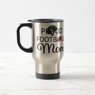 Proud Football Mom Travel Mug