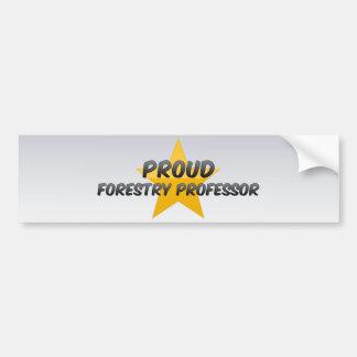 Proud Forestry Professor Bumper Sticker