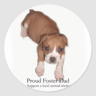 Proud Foster Dad Round Stickers