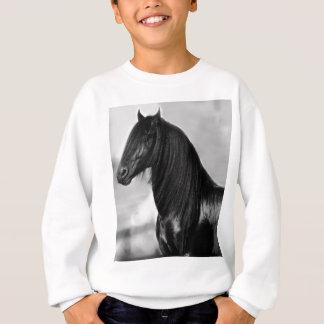 Proud Friesian black stallion horse Sweatshirt