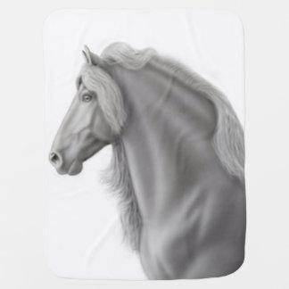 Proud Friesian Horse Baby Blanket