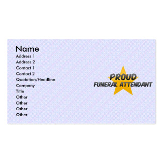 Proud Funeral Attendant Business Card Template