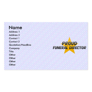 Proud Funeral Director Business Card Template